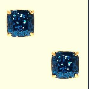 kate spade blue stud earrings nwt